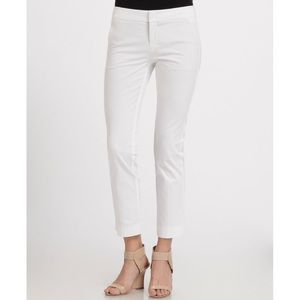 Vince Stretch Cotton Cropped Flare Pants White